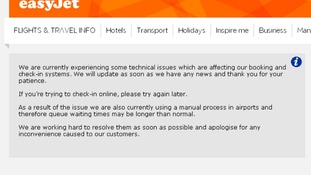 easyJet website has crashed.
