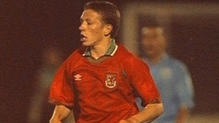 Playing for Wales U21