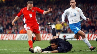 Scoring against Italy in the 2004 Euro qualifier