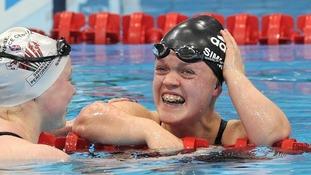 Ellie Simmonds in action