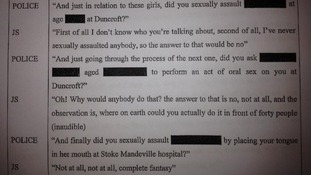 Transcript of an interview of Jimmy Savile (referred to as 'JS') by Surrey Police in 2009