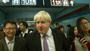 London Mayor Boris Johnson took a trip on Beijing's Metro to see how commuters move about the city.