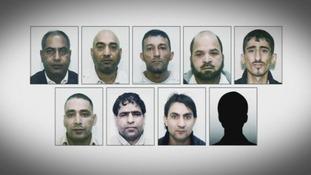 Left to right: Abdul Qayyum, Adil Khan, Mohammed Amin, Abdul Aziz, Mohammed Sajid, Hamid Safi, Abdul Rauf, Liaquat Shah and Kabeer Hassan