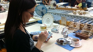 Gilder Emma Dudley at work on the christening range