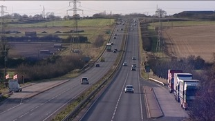 The A47 runs from Great Yarmouth to the Midlands
