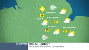 THURSDAY'S FORECAST FOR THE EAST MIDLANDS