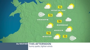 THURSDAY'S FORECAST FOR THE WEST MIDLANDS