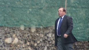 Michael Souter arriving at Norwich Crown Court