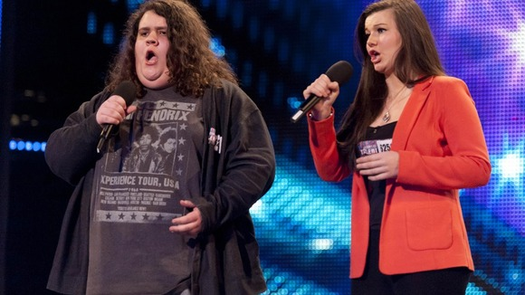 Jonathan and Charlotte in their first Britain&#x27;s Got Talent audition