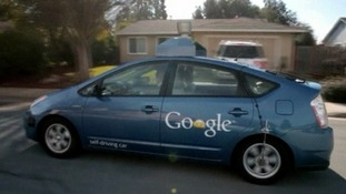 The Google self-driving car in action