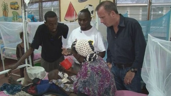ITV News Correspondent Martin Geissler at the Hagadera Hospital in Kenya 
