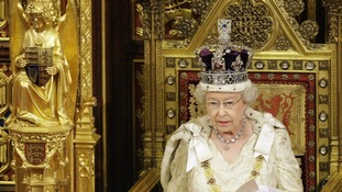 Queen Elizabeth delivers her speech, during the State Opening of Parliament, in the House of Lords within the Palace of Westminster 2009