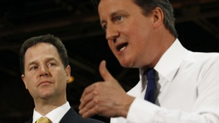 Nick Clegg and David Cameron relaunch the coalition