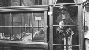 Funeral effigy of Charles II in Westminster Abbey, c1910