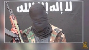 The masked man in the al-Shabaab propaganda video.