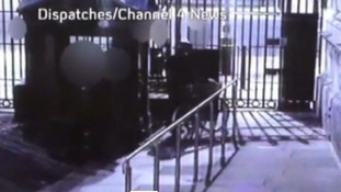A CCTV image of Mitchell leaving Downing Street