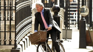 Andrew Mitchell pictured on his bicycle in 2011.