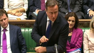 Prime Minister David Cameron speaks during Prime Minister's Questions.
