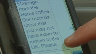 The Home Office sent this text message.