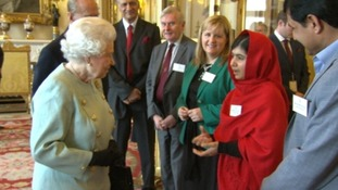 The Queen and Malala spoke abut the importance of education.