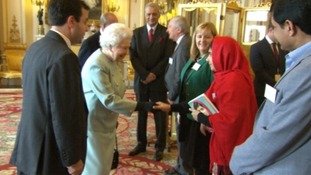Malala met the Queen at Buckingham Palace.