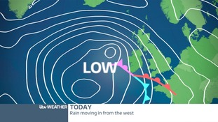 PRESSURE CHART: Weather fronts bringing rain to The Midlands
