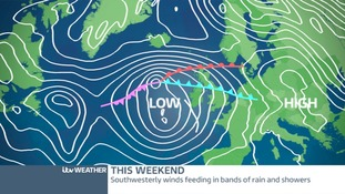 LOW PRESSURE SENDING RAIN AND SHOWERS OUR WAY