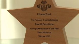 Arnold received a prestigious award from the Prince's Trust