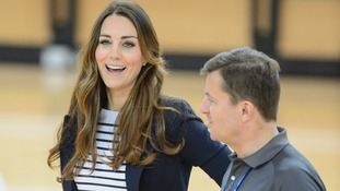 Kate in conversation during a visit to the SportsAid charity in east London