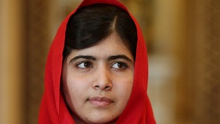 Malala survived an assassination attempt by the Taliban in October last year