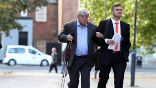 Sir David Jones (left) has plead not guilty to three charges of fraud
