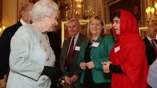Pakistani teenager Malala meets the Queen at Buckingham Palace