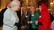 Pakistani teenager Malala meets the Queen at Buckingham Palace