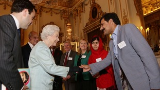 The Queen also met Malala's father Ziauddin during the Buckingham Palace reception