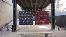 New York's 'resident' artist has posted photos of new work.