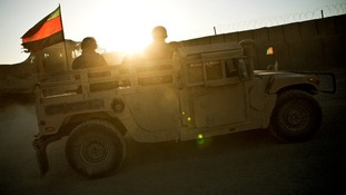 An Afghan National Army humvee
