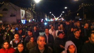 Thousands have gathered for the lights switch-on event