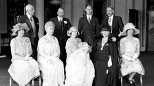 Queen Elizabeth's christening in Buckingham Palace, on May 29, 1926.