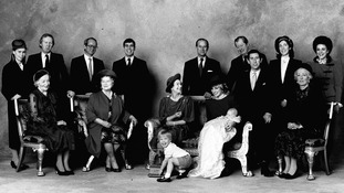 Members of the Royal family and Godparents after the christening of Prince Henry of Wales.