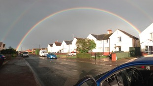 Double rainbow in Gloucester