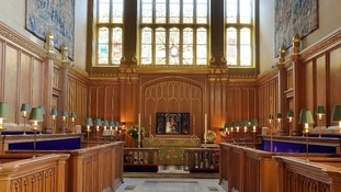 The alter of the Chapel Royal, inside St James's Palace. The chapel has a long history of musical excellence.