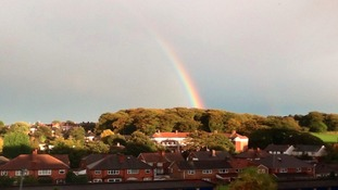 rainbow over warley