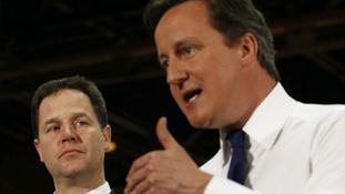Nick Clegg and David Cameron.