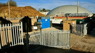 Anaerobic Digesters, like this one in Dorset, can harvest gas from food waste and use it to generate energy