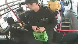 CCTV shows Lapshyn carrying a bomb to Walsall on a bus from Birmingham.