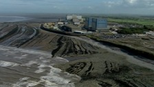 The site of the future Hinkley Point C power plant on the Somerset coast