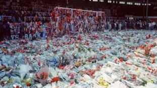 Tributes following the Hillsborough Disaster