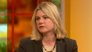 International Development Secretary Justine Greening on the Daybreak sofa.