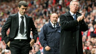 Sunerland manager Roy Keane (L) and Manchester United manager Sir Alex Ferguson in 2007