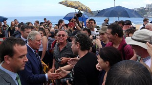Prince Charles meets wellwishers on Bondi Beach in Australia in November 2012